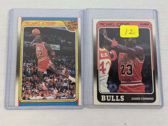Michael Jordan '88 Fleer Card & sticker