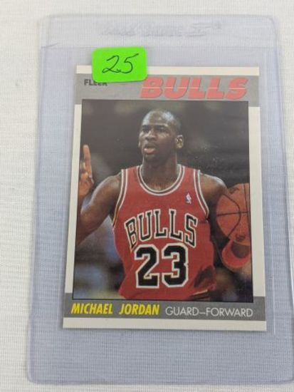 Michael Jordan '87 Fleer basketballcard