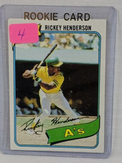 Ricky Henderson '80 Topps rookie