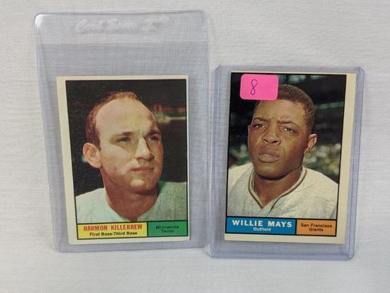 Willie Mays & Harmon Killebrew '61 Topps