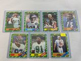 1986 Topps rookie lot: Young, White, Reed, Smith, Carter, Esison, Kosar