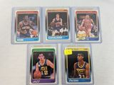 1988 Fleer rookie lot: Miller, Stockton, Price, Dumars, Bogues