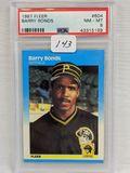 1987 Fleer Barry Bonds PSA 8