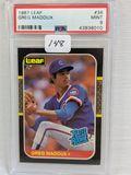1987 Leaf Greg Maddux PSA 9