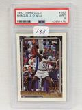 1992 Topps Gold Shaquille O'Neal  PSA 9