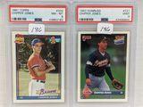 1991 Topps & 1993 Topps Chipper Jones PSA 8 & 9
