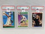 (3) Jim Thome PSA Graded Rookie Cards