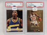 1993 Hoops Chris Webber PSA 9 & 1995 Ultra Gold Patrick Ewing PSA 9