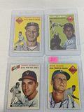 1954 Topps baseball cards # 119, 121, 126, 166 (includes: Podre & Antonelli