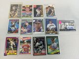 Cleveland Indians signed card lot of 13 with some factory signed includes Feller insert