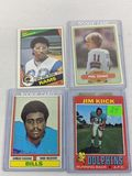 Football rookie lot: Kiick, Rashad, Simms, Dickerson