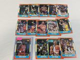 1986 Fleer basketball single lot of 14, no duplicates, includes: Moses Malone