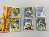 1985 Topps baseball grocery wrapped packs lot of 2 possible Rookies of Clemens, McGuire, Doc Gooden
