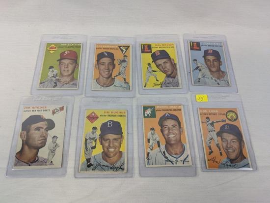 1954 Topps baseball lot of 8, EX