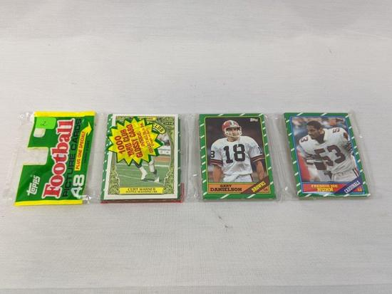 1986 Topps football grocery pack: Rice (Rookie)?