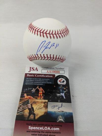 Jose Ramirez signed MLB ball, JSA