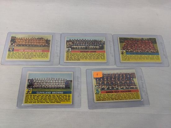 1956 Topps Team Card lot of 5