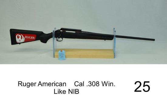 Ruger American    Cal .308 Win.    SN: 699-74113    Condition: Like NIB