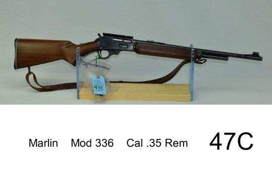 Marlin    Mod 336    Cal .35 Rem    SN: J3130    Condition: 65%