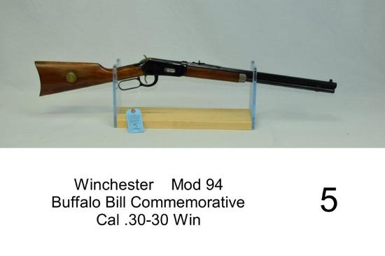 "Winchester    Mod 94    Buffalo Bill Commemorative     Cal .30-30 Win    SN: WC45670    ""Some rust o"
