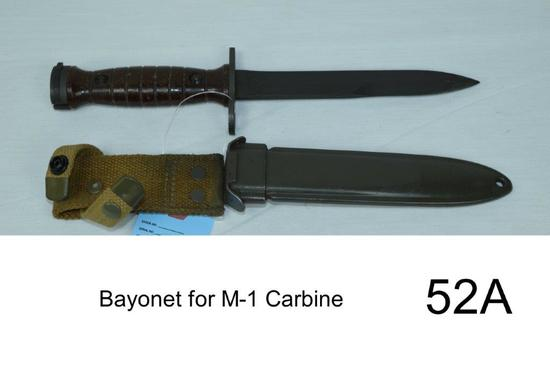 Bayonet for M-1 Carbine    Condition: Very Good