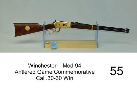 Winchester    Mod 94    Antlered Game Commemorative    Cal .30-30 Win    SN: AG13391    Condition: 8