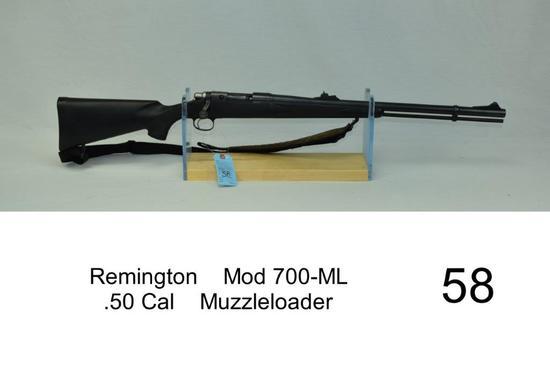 Remington    Mod 700-ML    .50 Cal    Muzzleloader    SN: ML200473    Condition: 70%