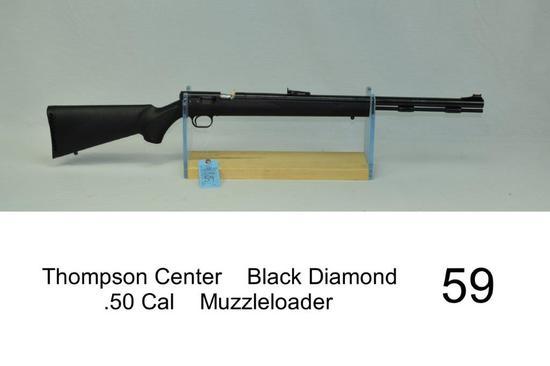 Thompson Center    Black Diamond    .50 Cal    Muzzleloader    SN: 25164    Condition: 85%