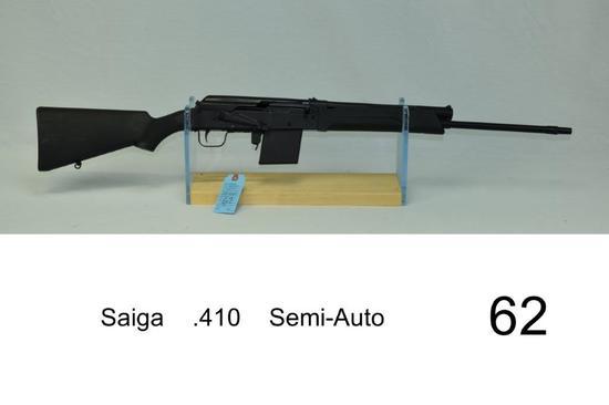 Saiga    .410    Semi-Auto    SN: 1224009    Condition: 90%