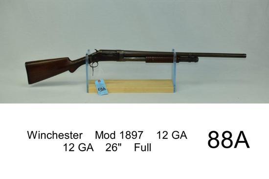 "Winchester    Mod 1897    12 GA    12 GA    26""    Full    SN: 56659    Condition: 20%"