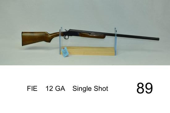 FIE    12 GA    Single Shot    SN: 620986    Condition: 30%
