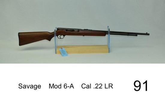 "Savage    Mod 6-A    Cal .22 LR    ""Stock refinished""    Condition: 30%"