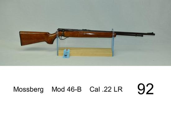 Mossberg    Mod 46-B    Cal .22 LR    Condition: 50%