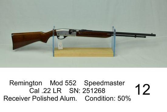 Remington    Mod 552    Speedmaster    Cal .22 LR    SN: 251268    Receiver Polished Alum.    Condit