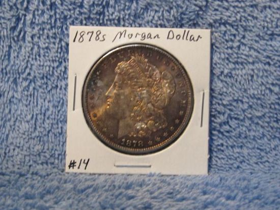 1878S MORGAN DOLLAR (TONING) BU