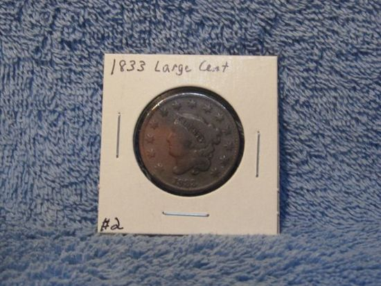 1833 LARGE CENT VG