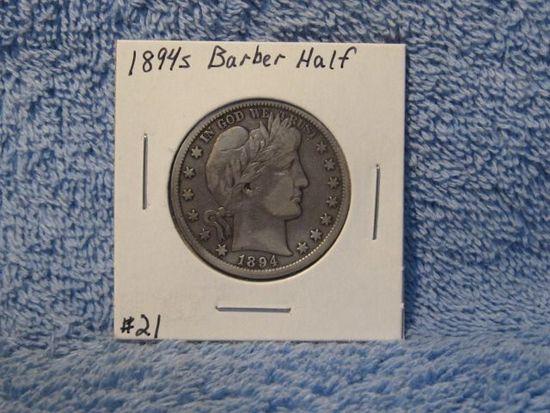 1894S BARBER HALF VF