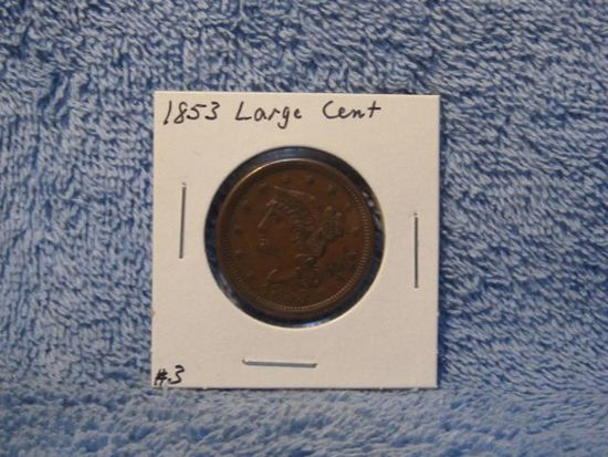 1853 LARGE CENT (NICE) XF+