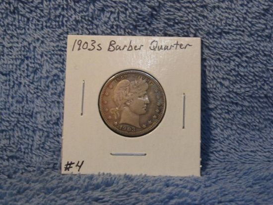 1903S BARBER QUARTER (A BETTER DATE) XF