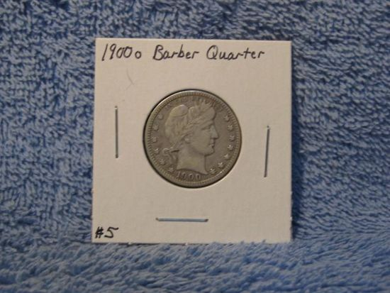 1900O BARBER QUARTER (A BETTER DATE) VF
