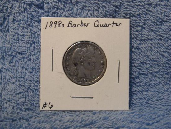 1898O BARBER QUARTER (A BETTER DATE) VF