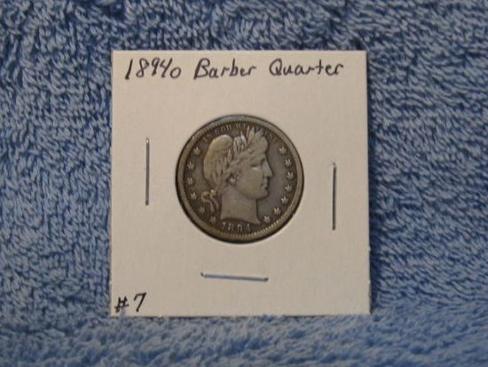 1894O BARBER QUARTER (A BETTER DATE) XF
