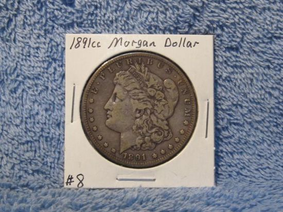 1891CC MORGAN DOLLAR VF