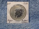 1928 PEACE DOLLAR CLEANED