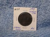 1794 LARGE CENT HEAD OF 1794 AG