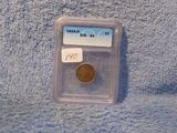 1914D LINCOLN CENT IN ICG G4 HOLDER