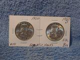 1950 & 1950D FRANKLIN HALVES CHOICE BU