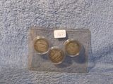 1928P,D,S, STANDING LIBERTY QUARTERS (3-COINS) VG-VF