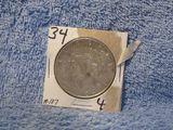1934D PEACE DOLLAR XF