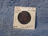 1834 LARGE CENT (CORRODED) XF
